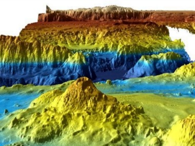 An undated supplied image from Geoscience Australia shows a computer generated three-dimensional view of the sea floor obtained from mapping data collected during the first phase of the search for missing Malaysia Airlines flight MH370. Commonwealth of Australia (Geoscience Australia)/Handout via REUTERS