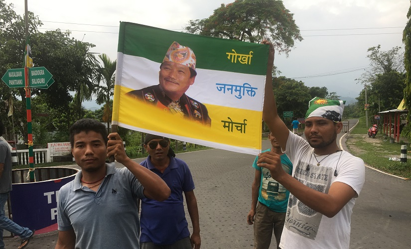 File image of protesting GJM workers. Image procured by author