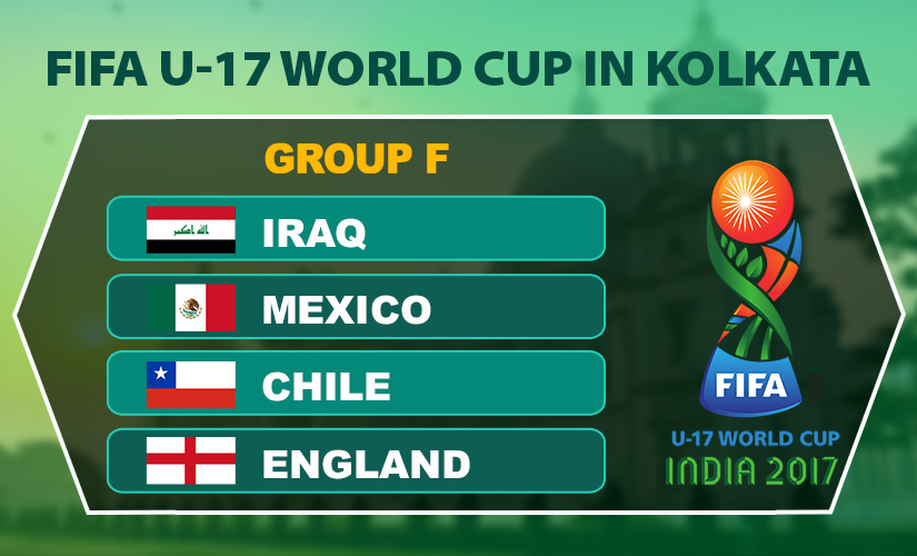 Kolkata to host England, Mexico, Chile and Iraq apart from the FIFA U-17 World Cup final.