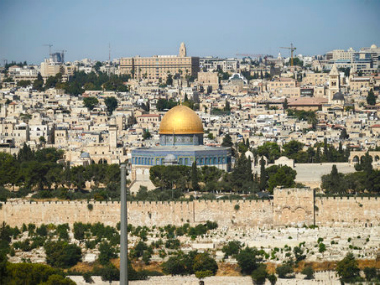 The Dome of the Rock Mosque in the Al Aqsa Mosque compound is seen in Jerusalem's Old City. AP