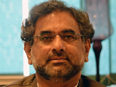 File image of Pakistan prime minister Shahid Abbasi. Getty Images