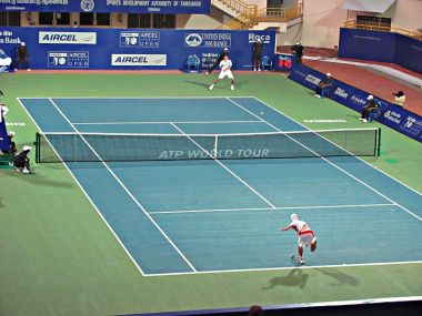 File photo of a match at the Chennai Open. Wikimedia Commons