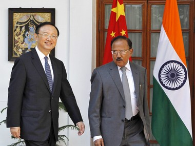 File image of Yang Jiechi (left) and Ajit Doval. Reuters