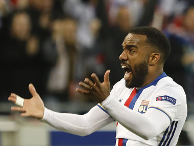 File image of Lyon's Alexandre Lacazette who has been signed by Arsenal. AP