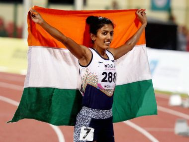 India's Anu Raghavan completed a remarkable turnaround to win silver medal at Asian Athletics Championships. PTI