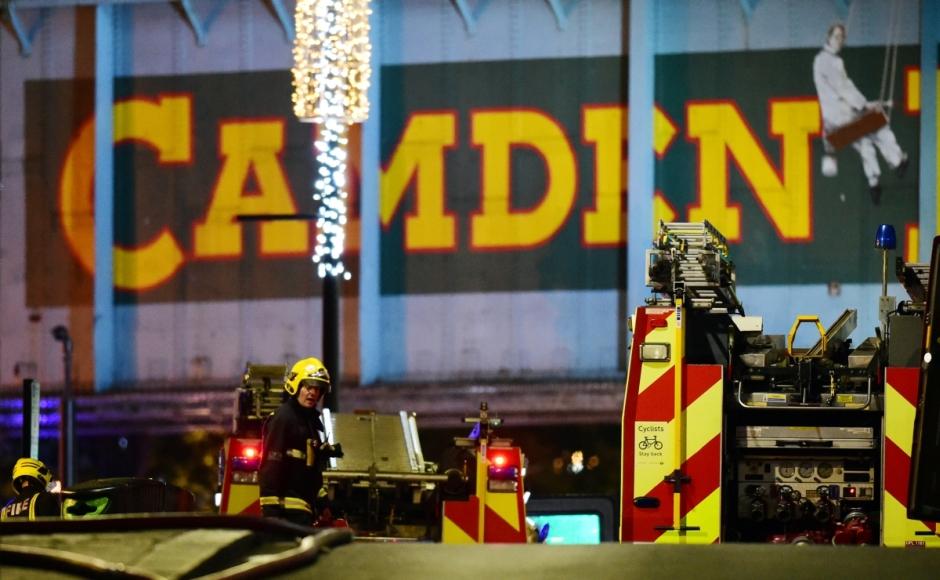 Firefighters battling blaze at London's Camden Market