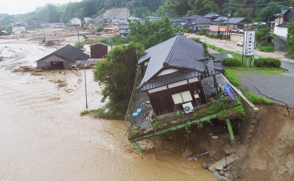 Rescue efforts continue as heavy rain kills 6 in southwestern Japan