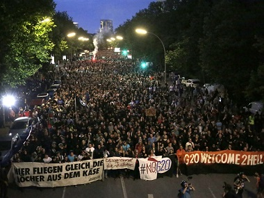 People protesting against G20 Summit. AP