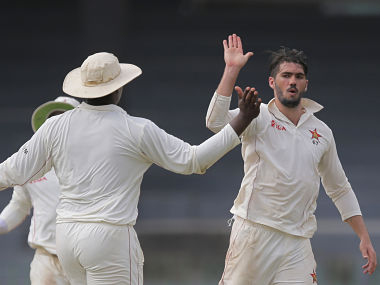 Zimbabwe's Graeme Cremer ended the day with figures of 3 for 100. AP
