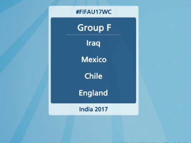 Group F boasts of Asian champions Iraq, two-time winners Mexico, U-20 champion England and high-flying Chile. Twitter: @IndianFootball