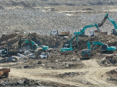 A general view of the construction site of Hambantota port is seen in Hambantota, about 240 km  south of Colombo. Reuters