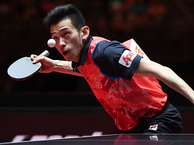A chance to train with men's World No 7 Wong Chun Ting is an exciting prospect for youngsters. AFP