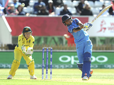 India's Harmanpreet Kaur scored 171 runs off just 115 balls in the semi-final against Australia. AP