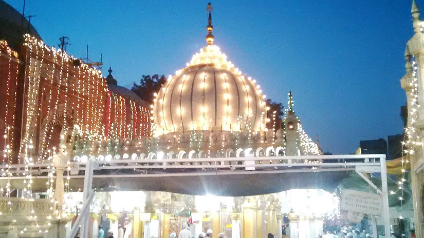 View of the Hazrat Nizaumuddin Dargah, lit up for the celebrations. Images courtesy the writer