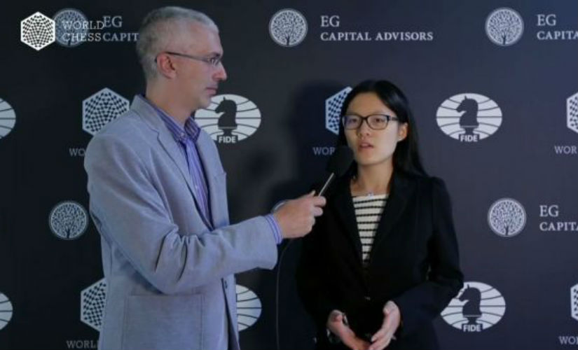 Hou Yifan won her first game of the tournament.