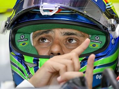 """Brazilian Formula One driver Felipe Massa of Williams team pulls out of Hungarian Grand Prix after feeling """"unwell and dizzy"""". AP"""