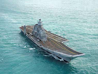 INS Vikramaditya is participating in the exercise. PTI