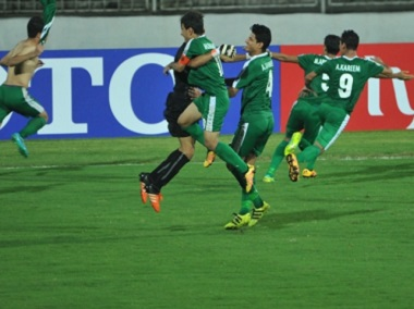 The Iraq team celebrate their victory over Iran in the final of the AFC U-16 Championships. Image courtesy: AFC