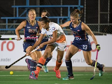 India lost to USA 4-1 in their second Pool B match Image courtesy: Twitter/@TheHockeyIndia