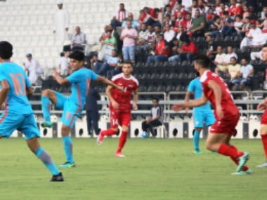A tough first match for Indian U-23 football team. Credits: AIFF Media Team