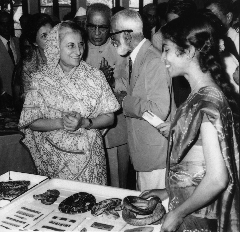 Indira Gandhi at BNHS, in (then) Bombay, September 1974.
