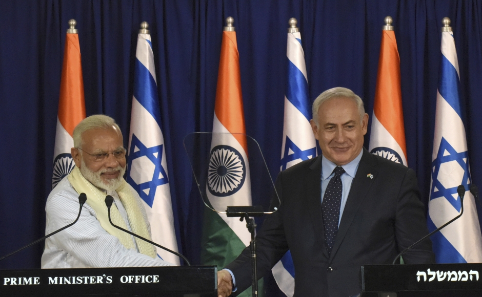 Modi begins first Israel visit by an Indian PM