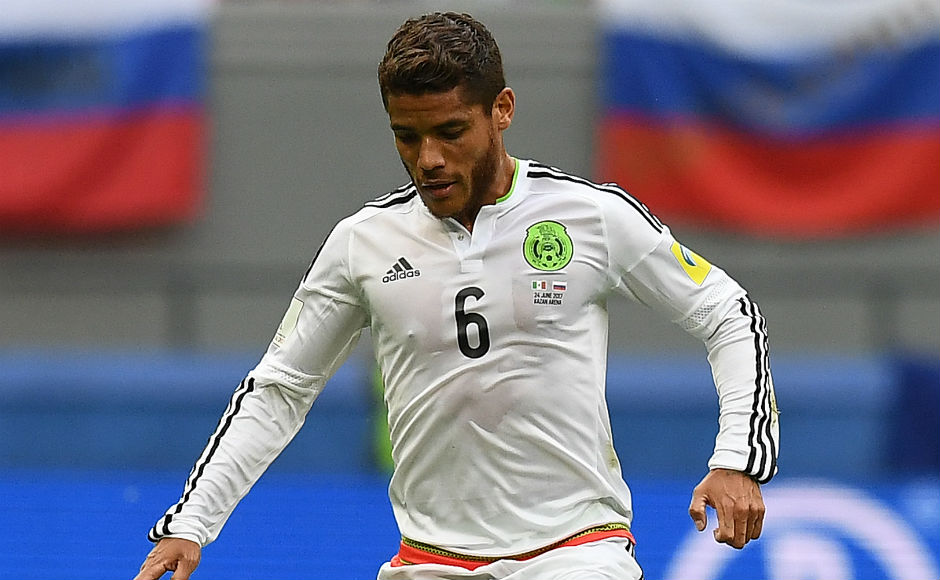 Jonathan Dos Santos in action against hosts Russia. AFP