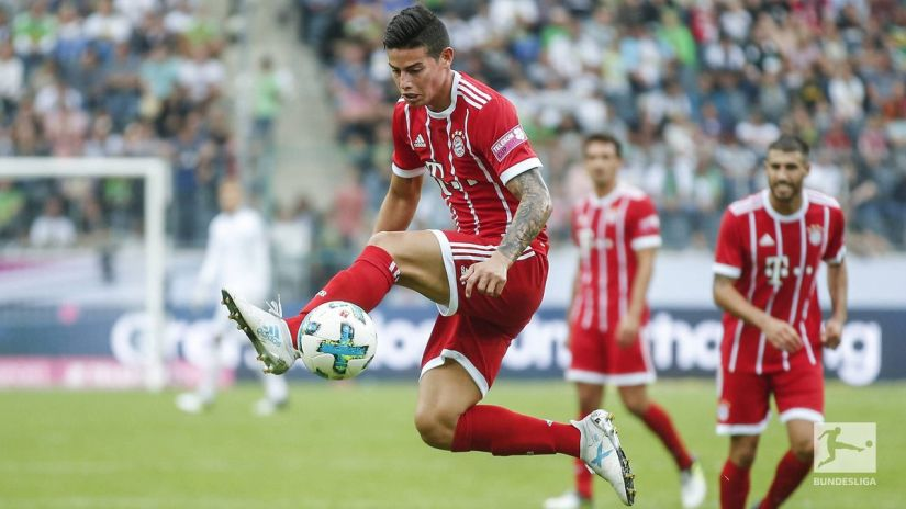 James Rodriguez impressed on his debut against Werder Bremen in the Telekom Cup. Twitter/@FCBayern