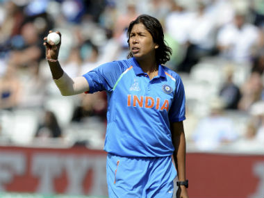 Jhulan Goswami recorded figures of 3/23 in the 2017 Women's World Cup final. AP
