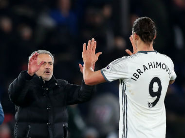 File image of Manchester United manager Jose Mourinho and Zlatan Ibrahimovic. Getty
