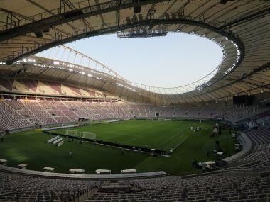 The Khalifa International Stadium in Doha which is slated to host matches of the 2022 World Cup. REUTERS