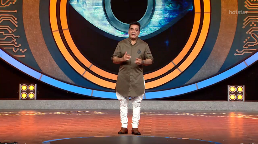 Kamal Haasan on the sets of Bigg Boss Tamil. Screengrab