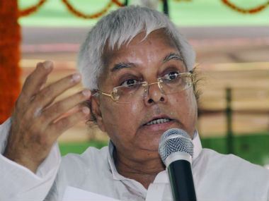 File image of RJD chief Lalu Prasad Yadav. Reuters