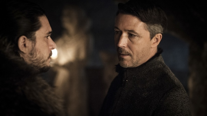 But not before he and Littlefinger have a cosy chat. Well, not quite. Still from Game of Thrones season 7 episode 2, 'Stormborn', via HBO