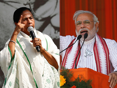File image of Mamata Banerjee and Narendra Modi. Reuters