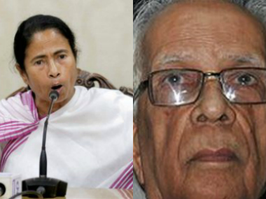 File image of Mamata Banerjee and KN Tripathy. PTI and Wikicommons
