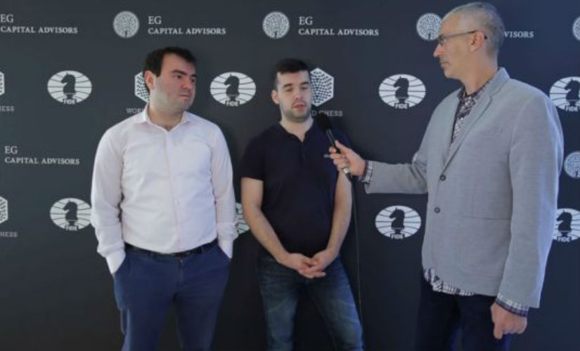 Among the draws in this round, the one between Shakriyar Mamedyarov (L) and Ian Nepomniachtchi was the most interesting.