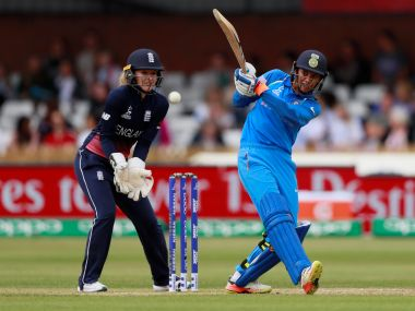 Cricket - England vs India - Women's Cricket World Cup - The 3aaa County Ground, Derby, Britain - June 24, 2017 India's Smrti Mandhana in action Action Images via Reuters/Jason Cairnduff - RTS18G5J