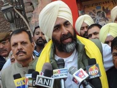 File image of Punjab finance minister Manpreet Singh Badal. AFP