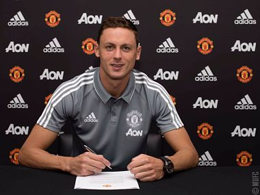 Nemanja Matic signed for Manchester United for a reported fee of £40 million. Image courtesy: Twitter/@ManUtd