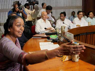 File image of Opposition's presidential nominee Meira Kumar. PTI