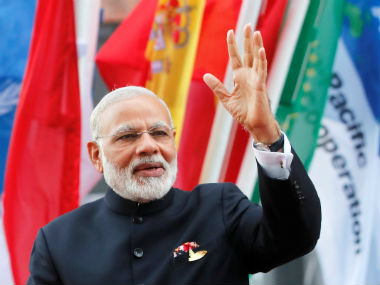 Prime Minister Narendra Modi at the G20 summit in Hamburg. Reuters