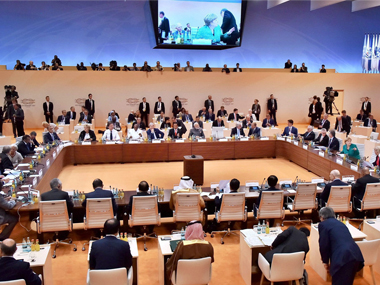 Prime Minister Narendra Modi attending the second day Plenary Session of the 12th G-20 Summit, in Hamburg, Germany on Saturday. PTI
