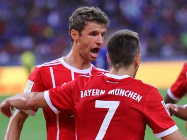File image of Bayern Munich's Thomas Mueller. Image Courtesy Twitter @FCBayern