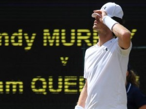 Tennis - Wimbledon - London, Britain - July 12, 2017 Great Britain's Andy Murray reacts during his quarter final match against Sam Querrey of the U.S. REUTERS/Toby Melville - RTX3B5C2
