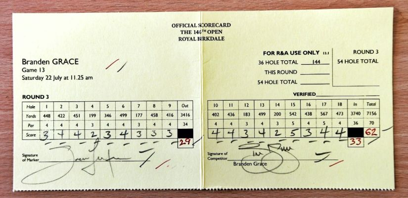 Offical Scorecard Grace The Open listicle