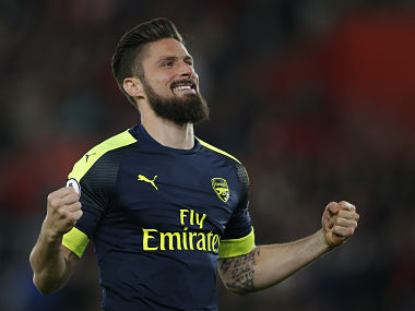 File image of Arsenal's Olivier Giroud. Reuters