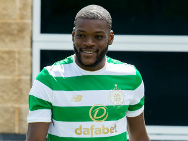 Olivier Ntcham in Celtic colours shortly after his transfer. Image courtesy: Celtic Football Club via Twitter