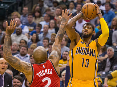 File image of Indiana Pacers forward Paul George . Reuters