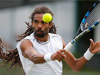 Germany's Dustin Brown in action during his first round match against Portugal's Joao Sousa. Reuters